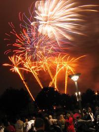 feu d'artifice a lille - 14 juillet