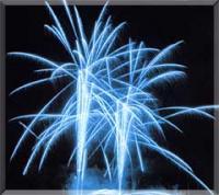 bleu exceptionnel - feu d'artifice