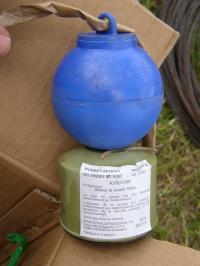 bombe de feu d'artifice calibre 75