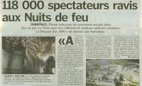 Article journal Nuits de Feu 2008
