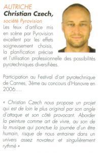 Christian Czech, Société Pyrovision Autriche