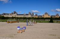 Le montage du feu de Fontainebleau 2011