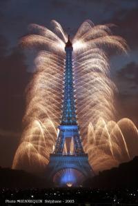 Feu d'artifice à Paris le 14/07/2005